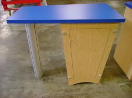 (2) Euro LT Laminate Counters with Locking Storage and Shelf