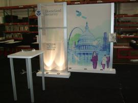 Custom 10 x 10 Inline Visionary Designs Exhibit with Tension Fabric Graphics