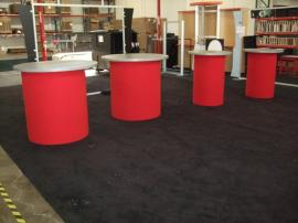 Custom Round Pedestals with Fabric Bases -- Image 1