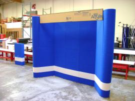 10' x 10' Intro Full Height Fabric Display with Header and Accent Stripe