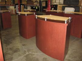 Euro LT Display Counters with Raised Plex Counter Top and Internal Storage