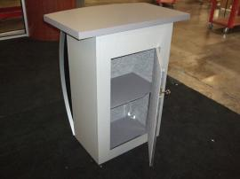 MOD-1121 Trade Show Pedestal with Locking Storage -- Back