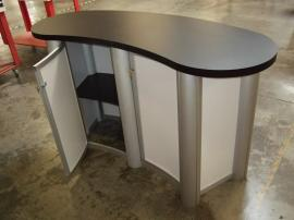 MOD-1183 Reception Counter with Locking Storage -- Back