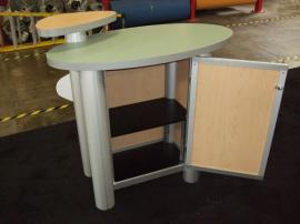 MOD-1184 Trade Show Pedestal with Locking Storage -- Rear View