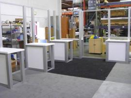 RENTAL Exhibit -- 20' x 30' Island with Internal Workstations (shown without graphics) -- Image 2