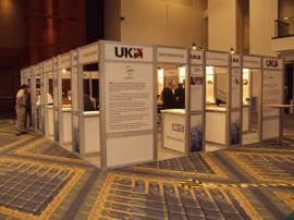 RENTAL Exhibit -- 20' x 30' Island with Internal Workstations (shown with graphics) -- Image 6