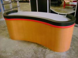 Custom Reception Counter with Laminate Accents