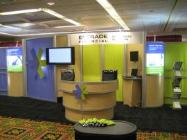 E*Trade Rental Exhibit -- 10' x 30' Hybrid Tradeshow Display with MOD-1237 Counter