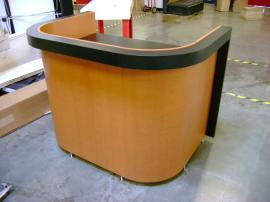 Custom Tradeshow Presentation Counter with Shelves