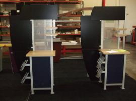 Modified MOD-1207 Kiosk with Literature Brochure Holders -- Image 1