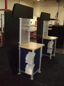 Modified MOD-1207 Kiosk with Literature Brochure Holders -- Image 2