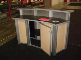 MOD-1143 Reception Counter with Locking Storage -- Back