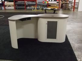 Modular Trade Show Counter with Pull Drawer and Internal Storage -- Image 2