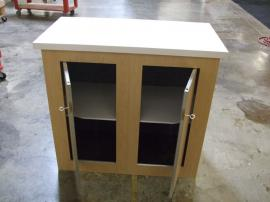 Modular Euro LT Counter with Locking Storage and Shelf -- Image 1