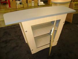LTK-1002 Pedestal Counter with Shelves