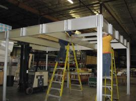 Setting Up the Aluminum Extrusion Double Deck for a Rental Project