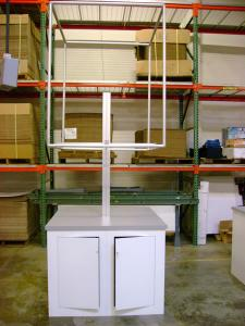 Euro LT Counter with Tension Fabric Header