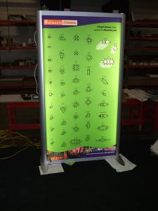Backlit Lightbox MOD-1250 with Tension Fabric Graphics (Two-Sided) -- Image 1