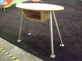 Custom Exhibit Pedestal with Open Shelf and MODUL Aluminum Supports -- Image 2