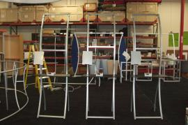 Perfect 10 VK-1704 Portable Banner Stations (shown without graphics) -- Image 1