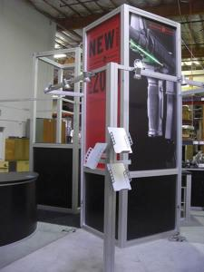 RENTAL Exhibit:  20' x 20' Visionary Designs Rental Exhibit with Tension Fabric Graphics -- Image 1