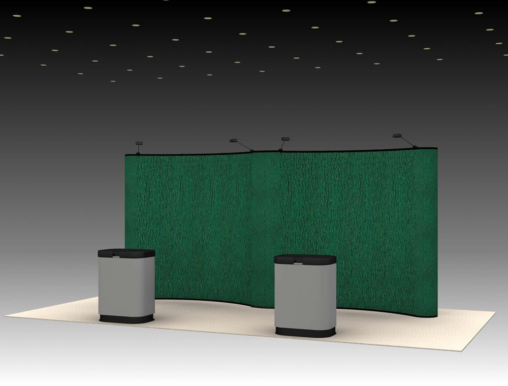 QD-201 Trade Show Pop-up Exhibit