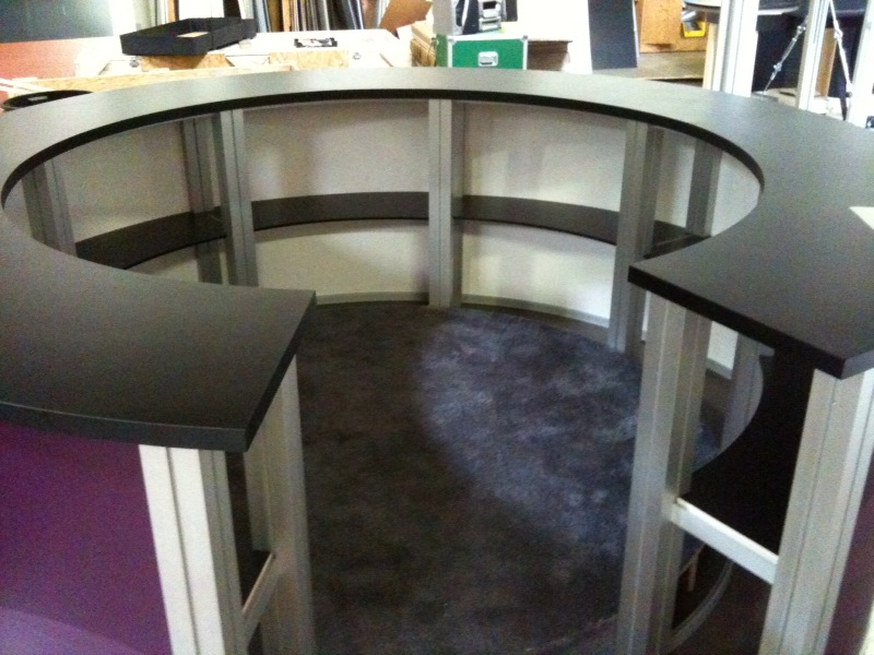 Exhibit Design Search Re 1226 Circular Counter Rental