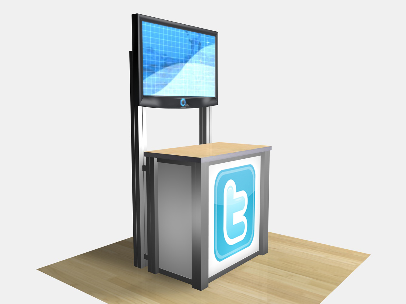Exhibit Design Search - RE-1232 / Rectangular Counter Kiosk (Rental Accessories) - | Classic ...