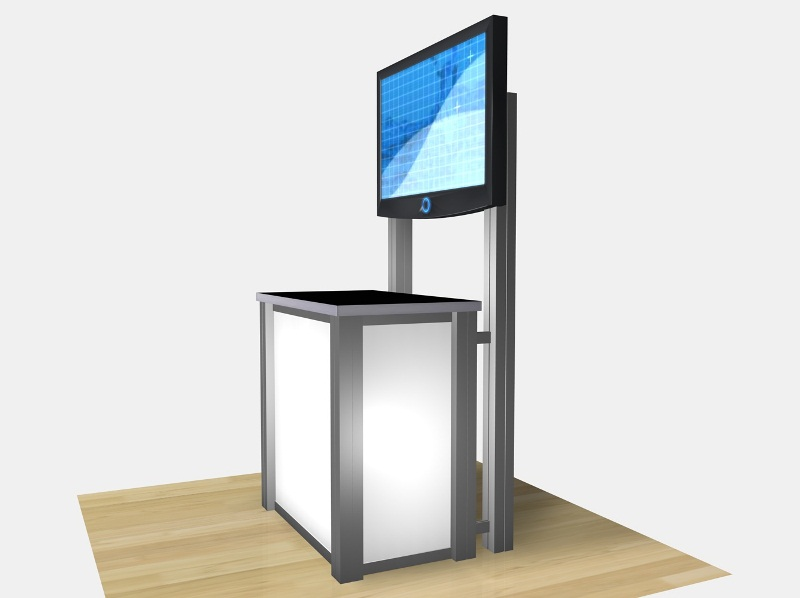 Trade Show Booth Kiosks : Exhibit design search re rectangular counter