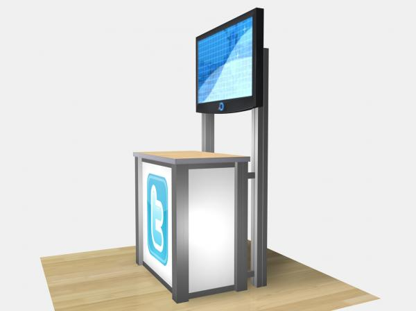RE-1232  /  Rectangular Counter Kiosk - Image 3