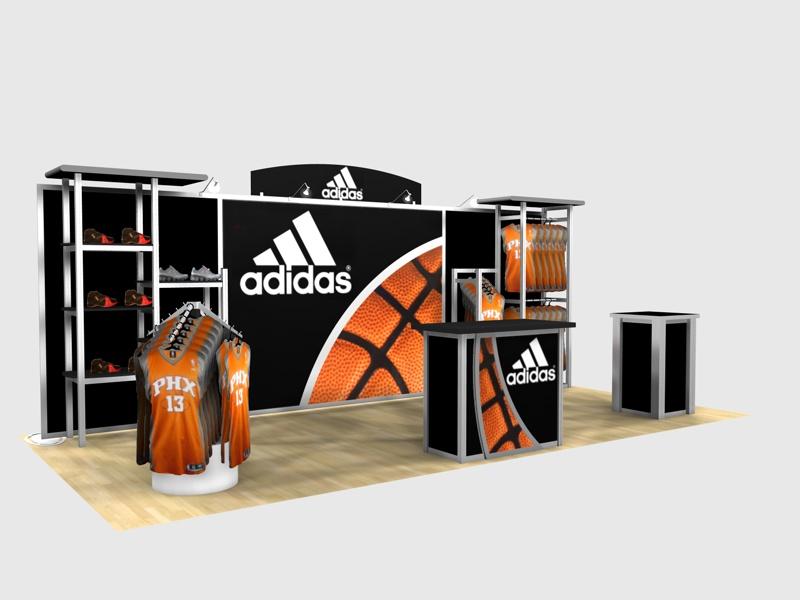 Expo Display Stands : Exhibit design search re adidas rental inline displays