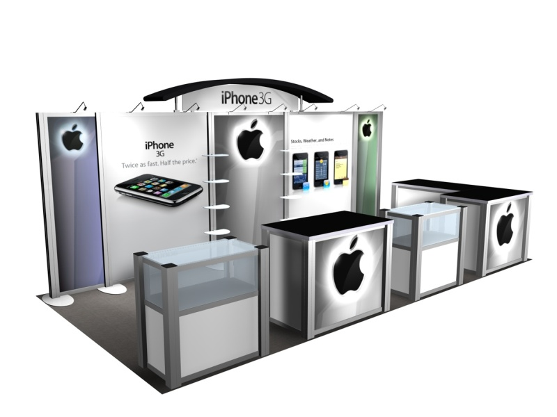 Trade Show Booth Kiosks : Exhibit design search re iphone rental inline