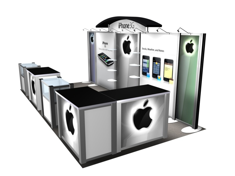 Exhibition Booth Header : Exhibit design search re iphone rental inline