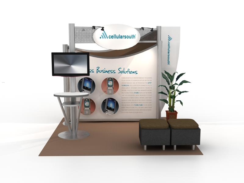 Exhibit Design Search - VK-2059 | Hybrid Booth (Modern ...