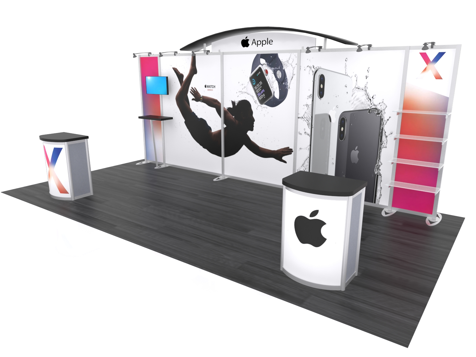 Trade Show Booth Options : Exhibit design search vk hybrid booth modern