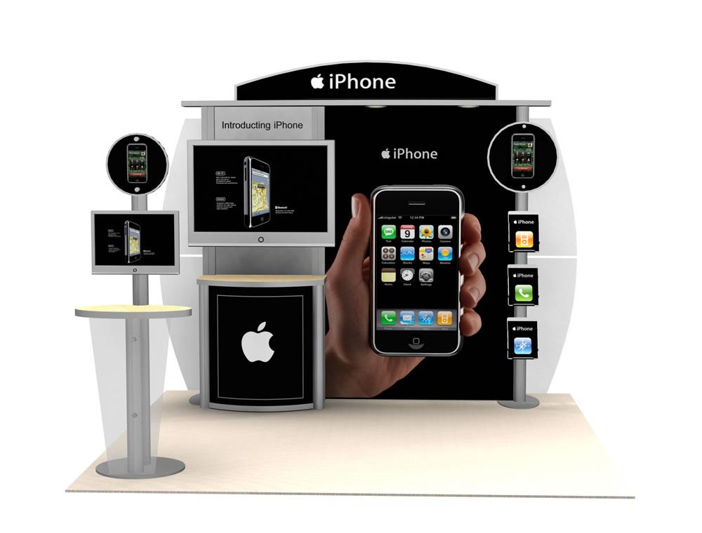 Portable Exhibition Flooring : Exhibit design search vk hybrid booth modern